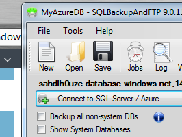 How to backup Azure SQL Databases with SQLBackupAndFTP