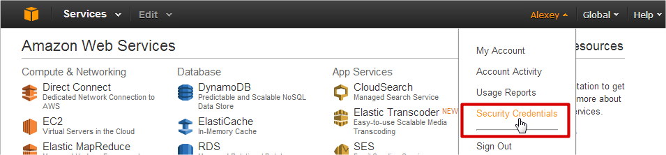 AWS Management Console Home - Google Chrome