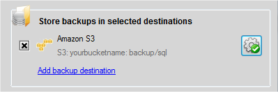 How to write Amazon S3 access policy having the minimum permission required to backup databases with SQLBackupAndFTP